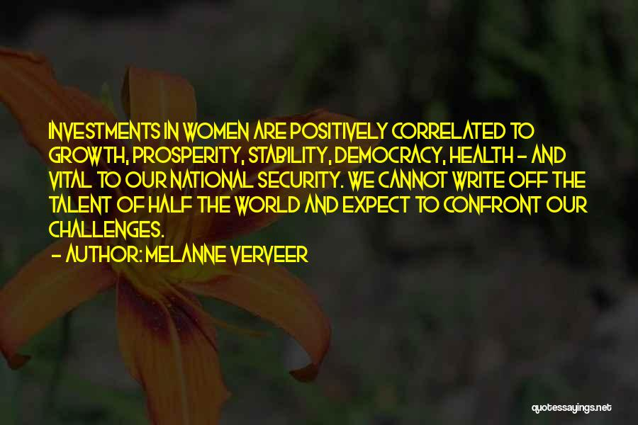 Challenges Of Democracy Quotes By Melanne Verveer
