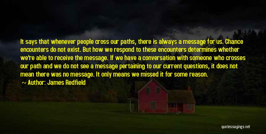 Chance Encounters Quotes By James Redfield