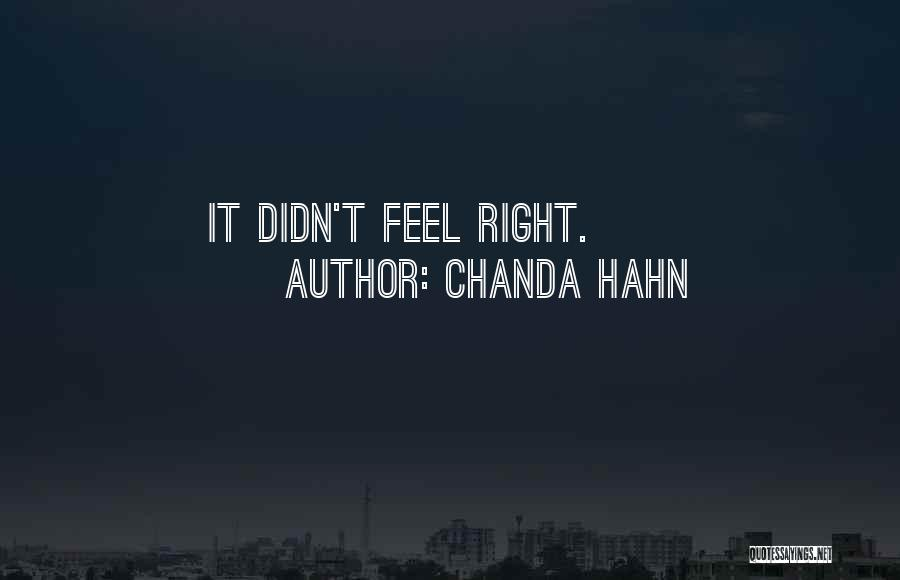 Chanda Hahn Quotes 205912