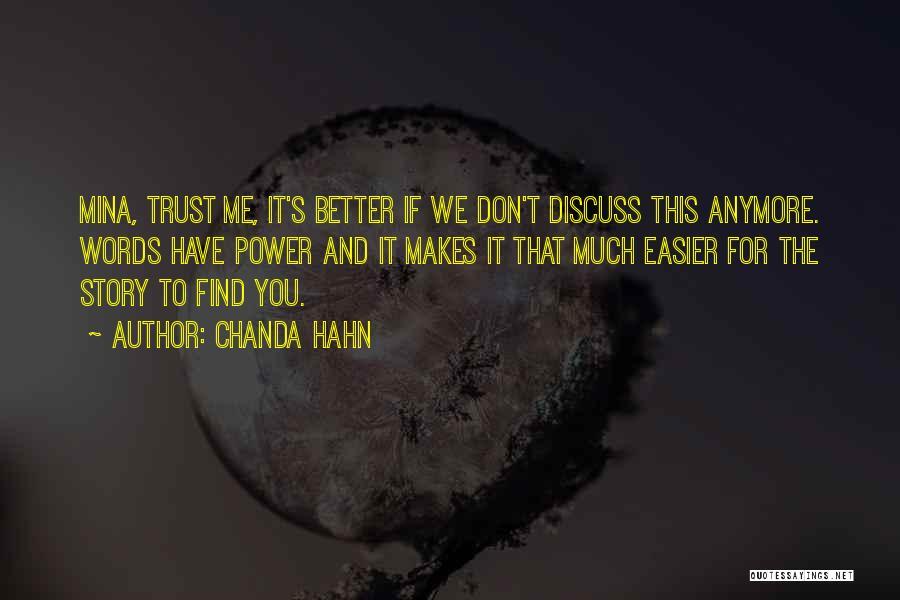 Chanda Hahn Quotes 256547