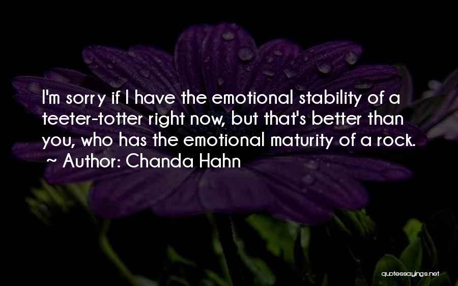 Chanda Hahn Quotes 259240