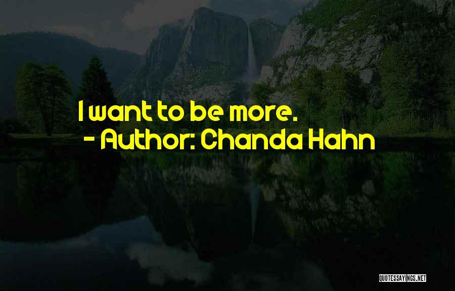 Chanda Hahn Quotes 351141
