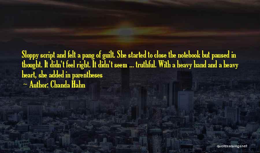 Chanda Hahn Quotes 394045