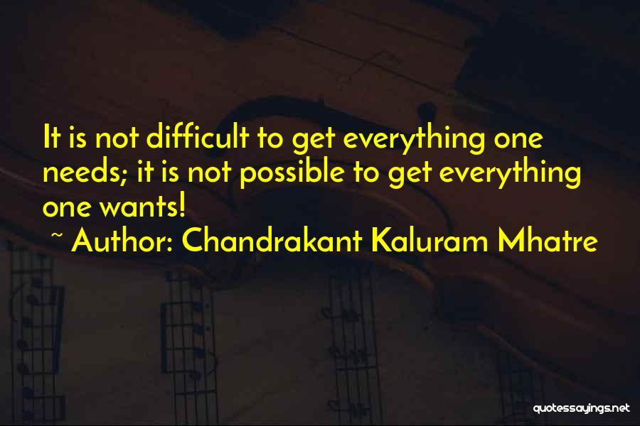 Chandrakant Kaluram Mhatre Quotes 1524641
