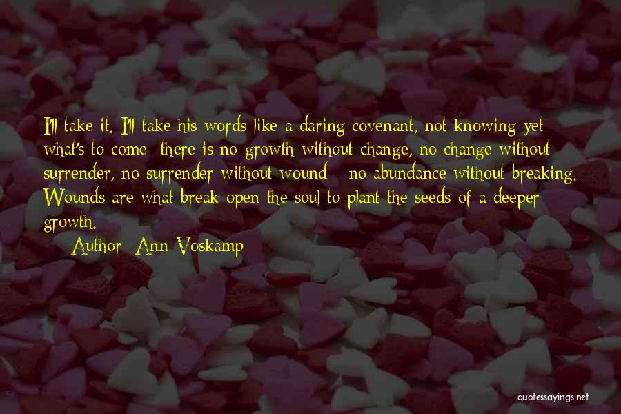 Change And Breaking Up Quotes By Ann Voskamp