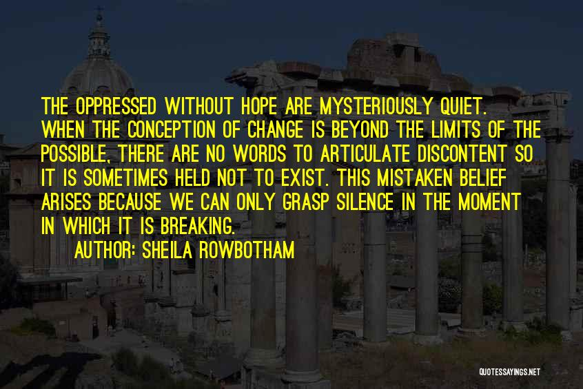 Change And Breaking Up Quotes By Sheila Rowbotham