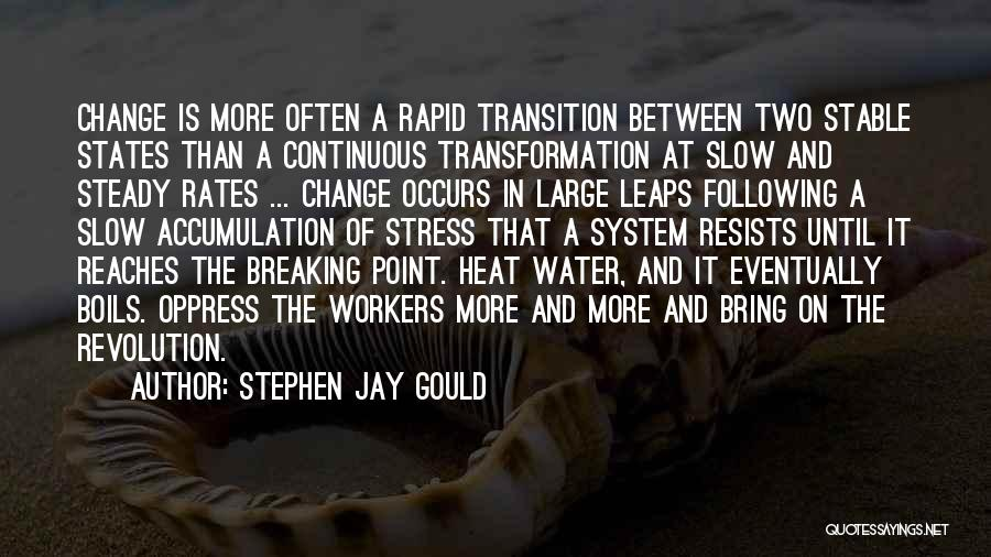 Change And Breaking Up Quotes By Stephen Jay Gould