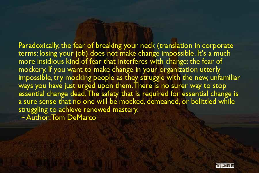 Change And Breaking Up Quotes By Tom DeMarco