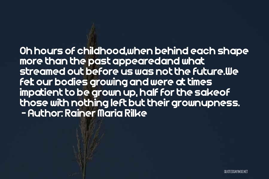 Change And Growing Up Quotes By Rainer Maria Rilke