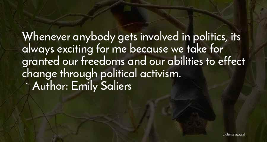 Change Anybody Quotes By Emily Saliers