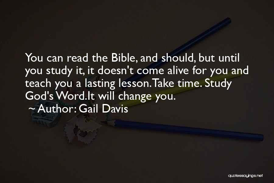 Change For God Quotes By Gail Davis