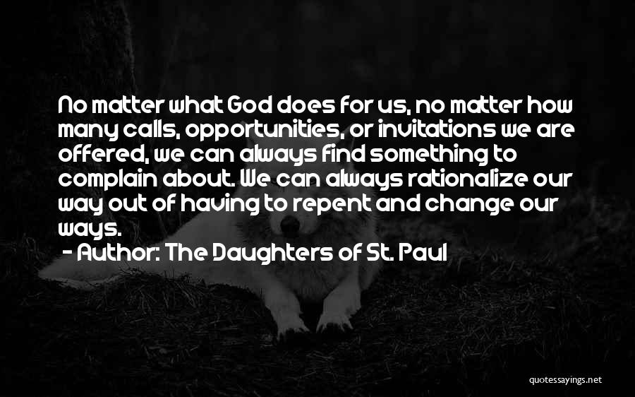 Change For God Quotes By The Daughters Of St. Paul