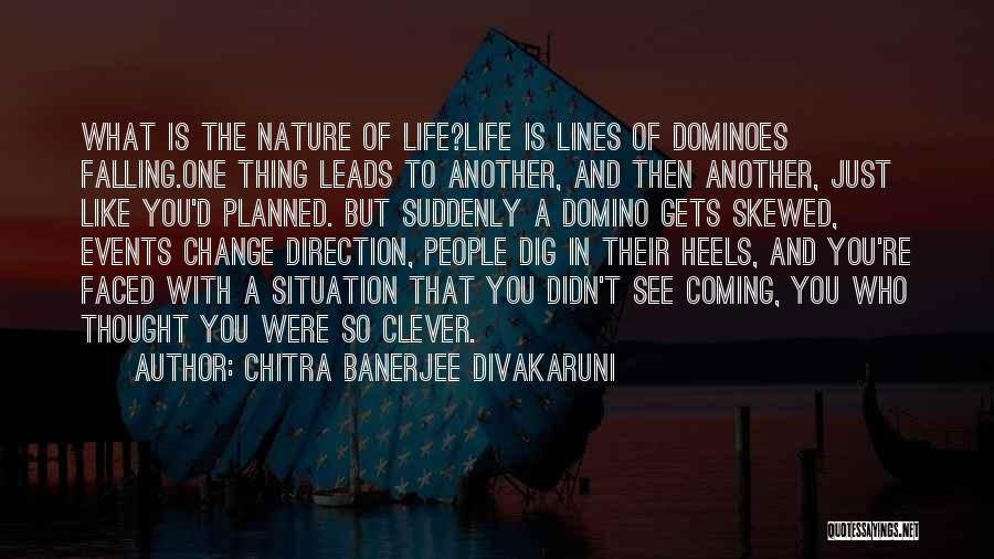 Change In Life Direction Quotes By Chitra Banerjee Divakaruni