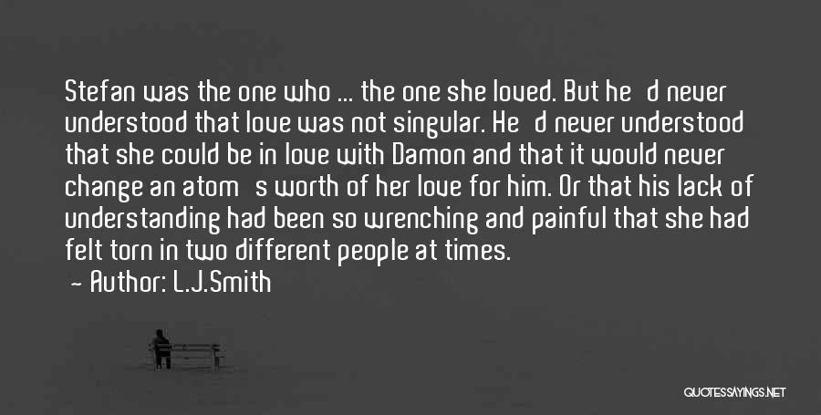 Change In Love Quotes By L.J.Smith