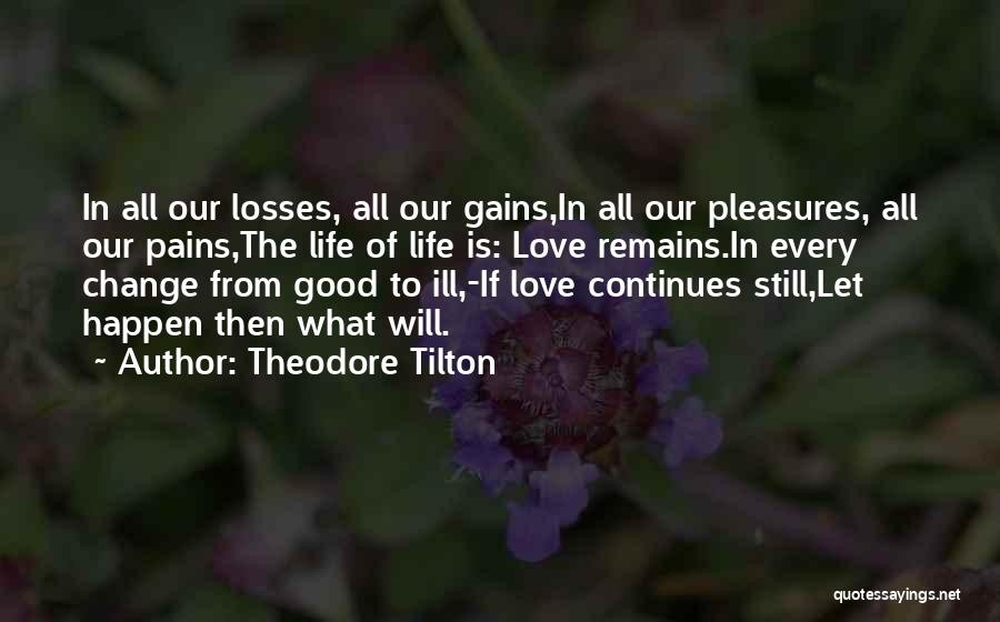 Change In Love Quotes By Theodore Tilton