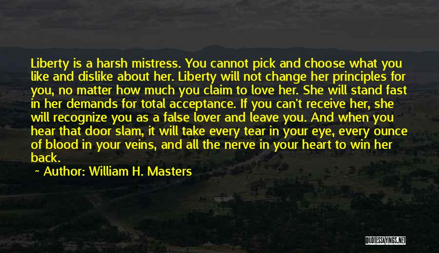 Change In Love Quotes By William H. Masters