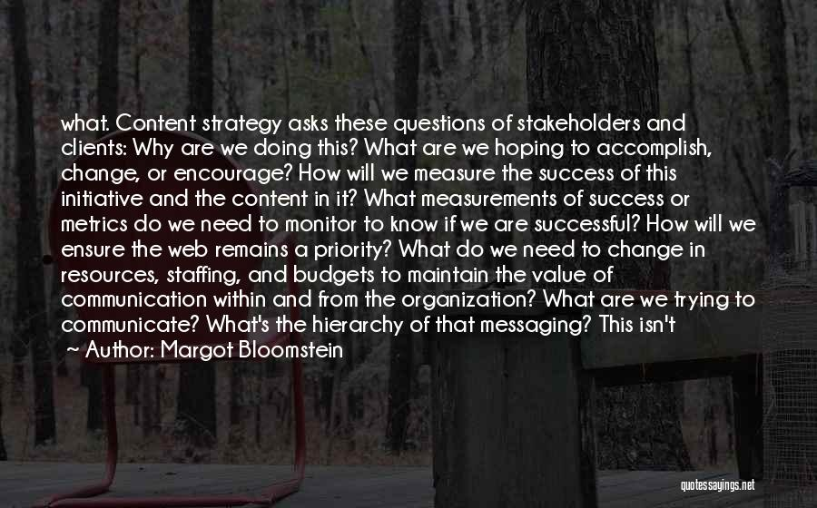 Change Initiative Quotes By Margot Bloomstein