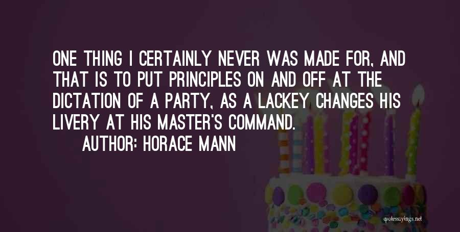 Change Of Command Quotes By Horace Mann