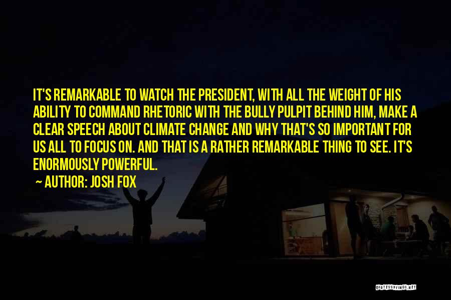 Change Of Command Quotes By Josh Fox
