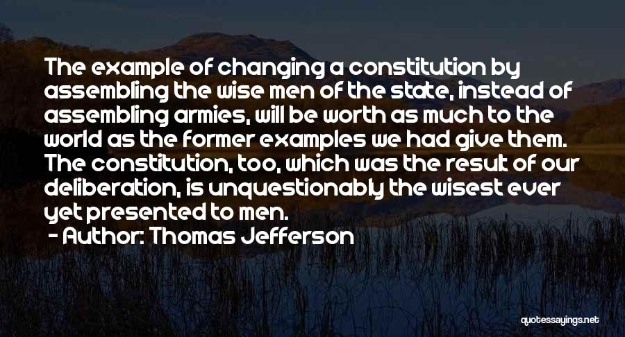 Changing The Constitution Quotes By Thomas Jefferson