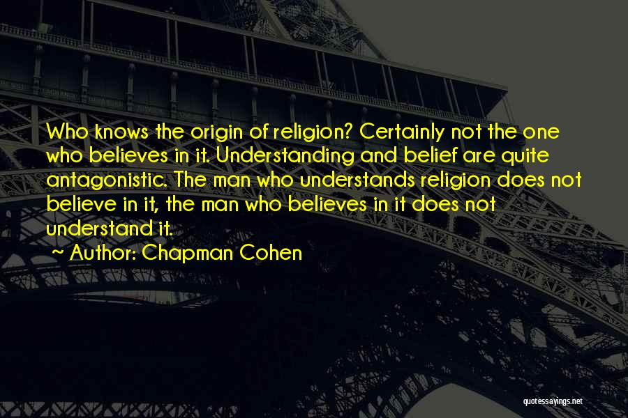Chapman Quotes By Chapman Cohen