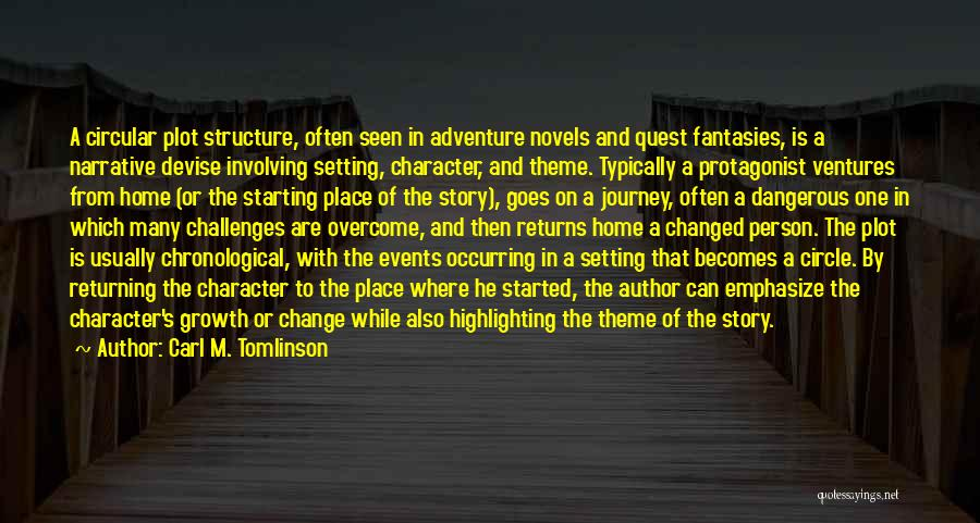 Character And Setting Quotes By Carl M. Tomlinson