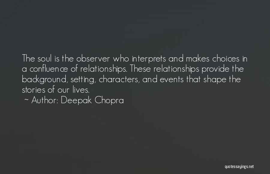 Character And Setting Quotes By Deepak Chopra