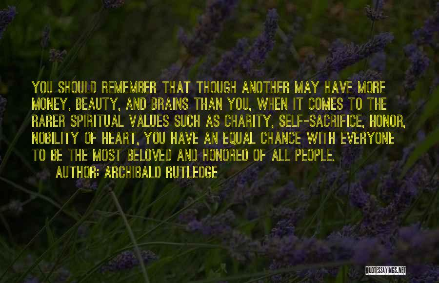 Character Vs Money Quotes By Archibald Rutledge