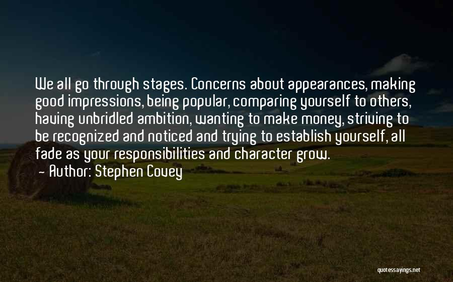 Character Vs Money Quotes By Stephen Covey