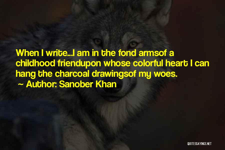 Charcoal Drawing Quotes By Sanober Khan