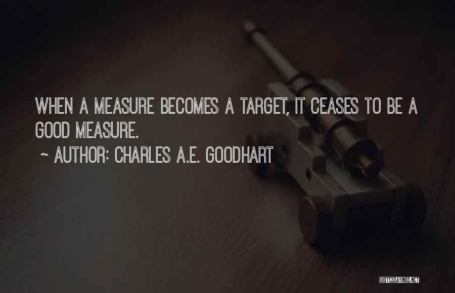 Charles A.E. Goodhart Quotes 815779