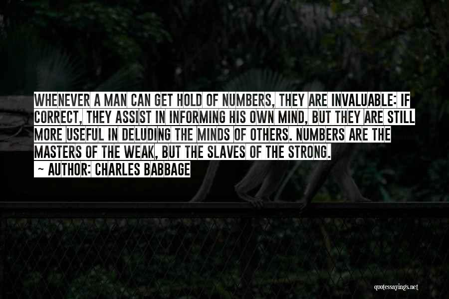 Charles Babbage Quotes 1897328