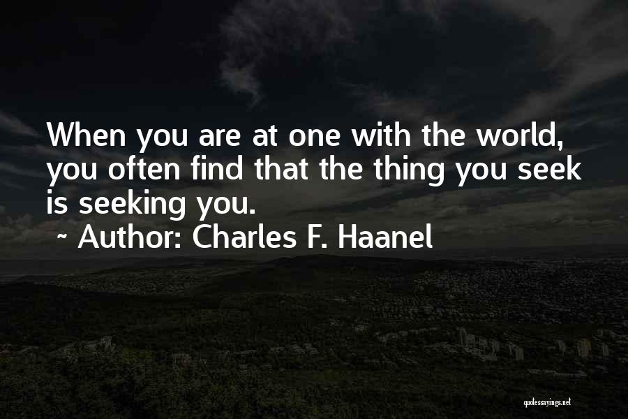 Charles F. Haanel Quotes 1068188