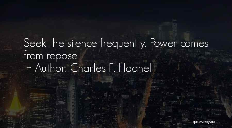 Charles F. Haanel Quotes 1347114