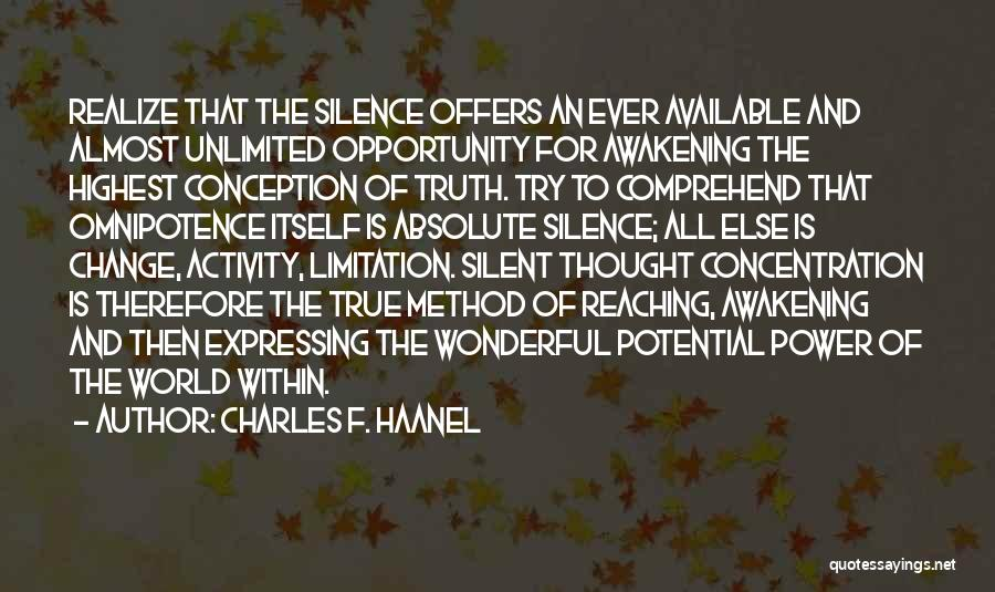 Charles F. Haanel Quotes 1759682