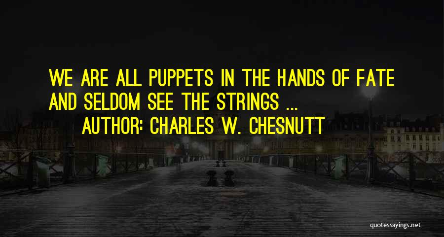 Charles W. Chesnutt Quotes 1814999