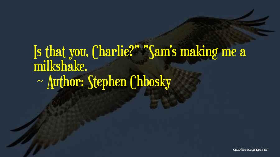 Charlie And Sam Quotes By Stephen Chbosky
