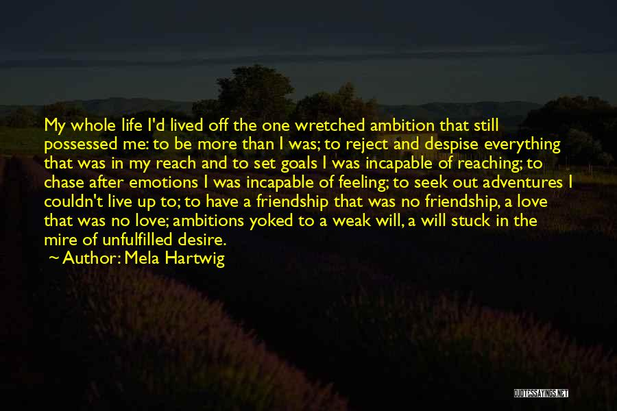 Chase After Me Quotes By Mela Hartwig