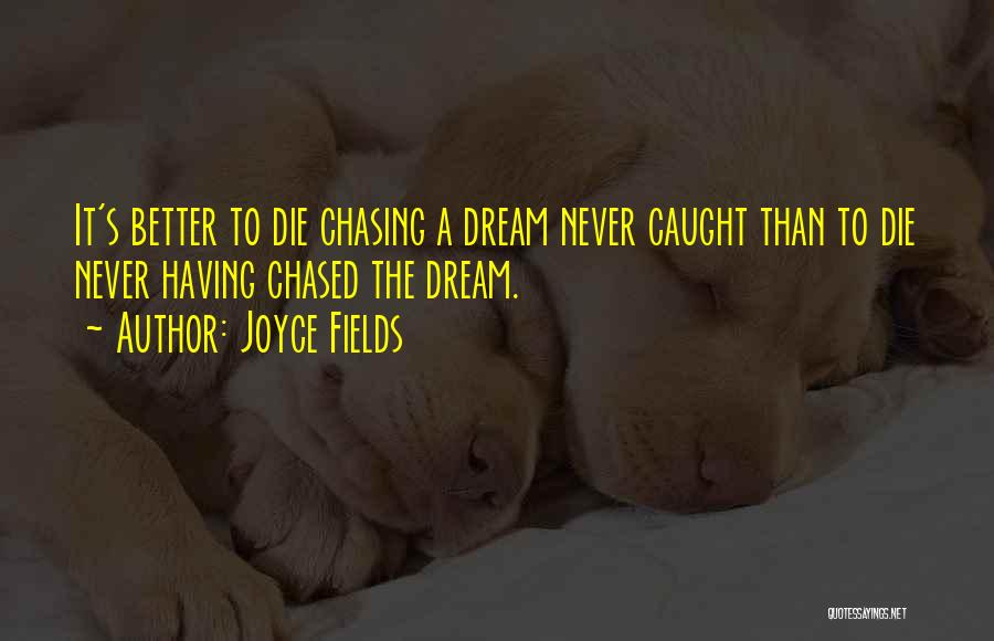 Chasing A Dream Quotes By Joyce Fields