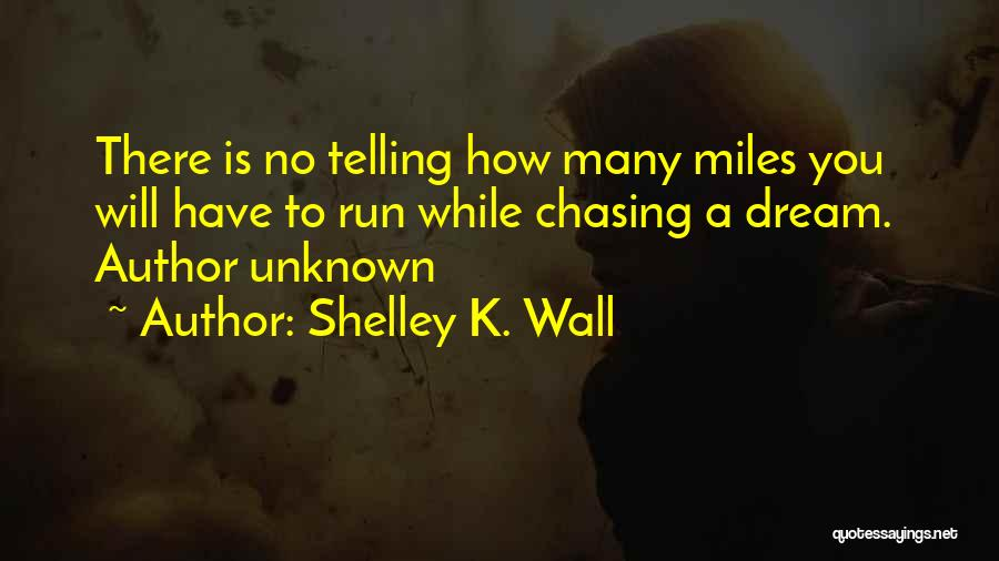 Chasing A Dream Quotes By Shelley K. Wall