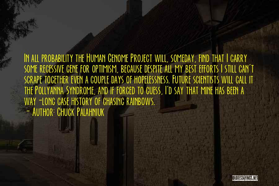 Chasing Optimism Quotes By Chuck Palahniuk