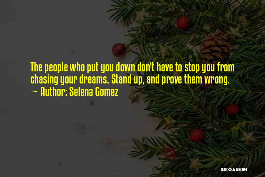 Chasing Your Dream Quotes By Selena Gomez