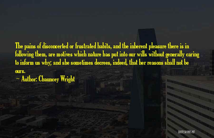 Chauncey Wright Quotes 690533