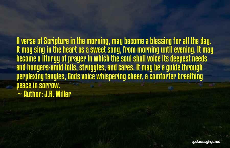 Cheer Voice Over Quotes By J.R. Miller