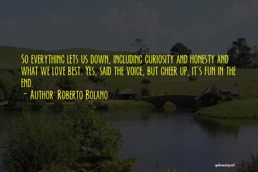 Cheer Voice Over Quotes By Roberto Bolano