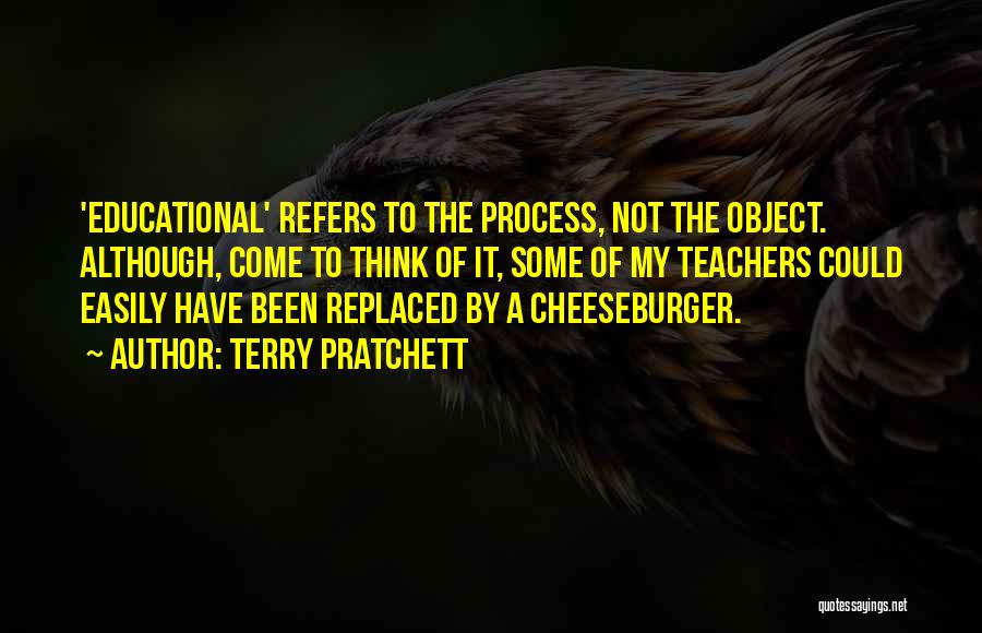 Cheeseburger Quotes By Terry Pratchett
