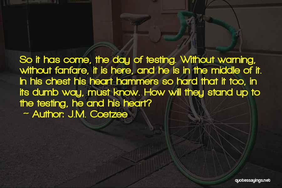 Chest Day Quotes By J.M. Coetzee