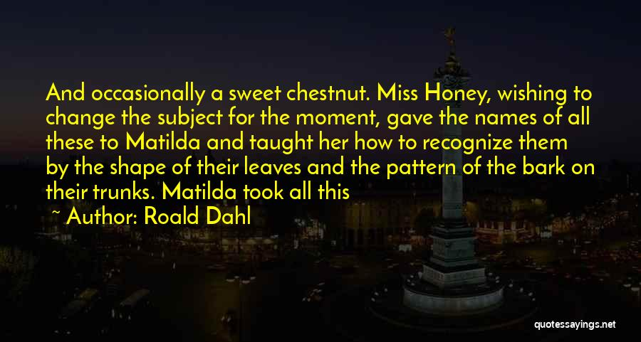 Chestnut Quotes By Roald Dahl