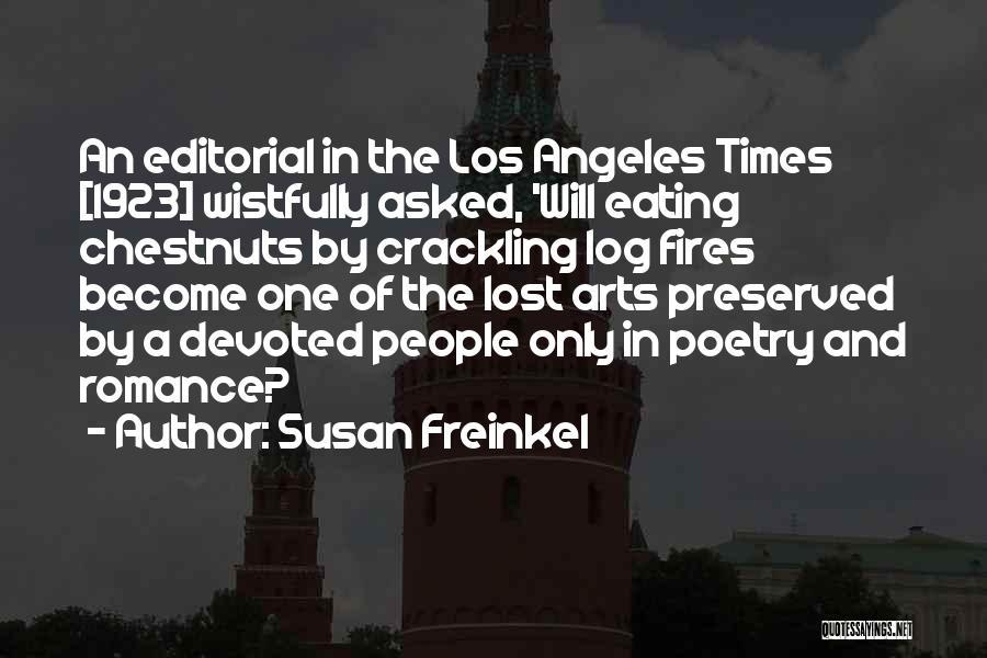 Chestnut Quotes By Susan Freinkel