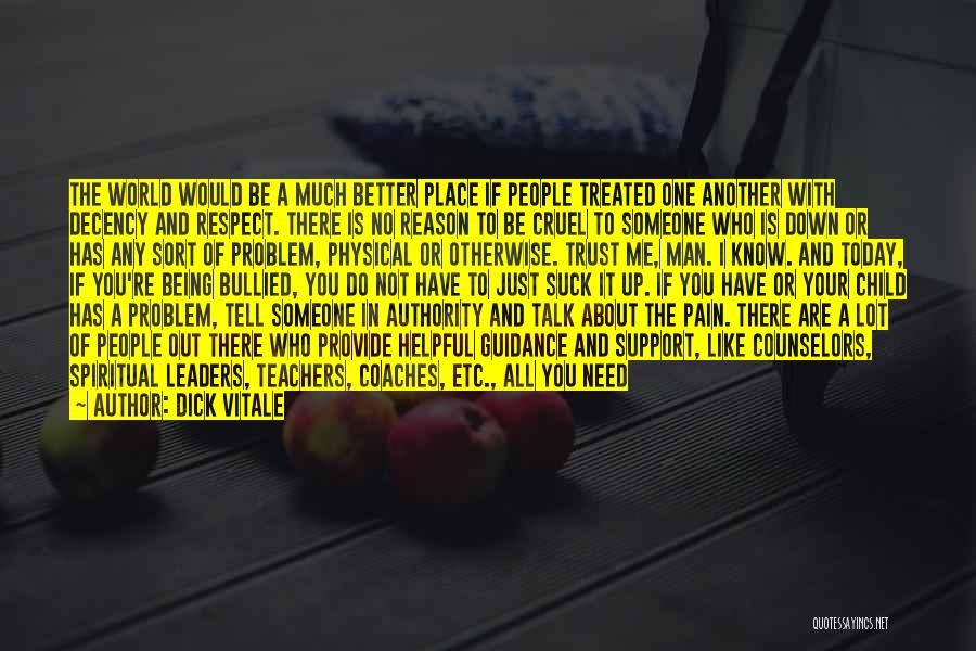 Child Being Bullied Quotes By Dick Vitale